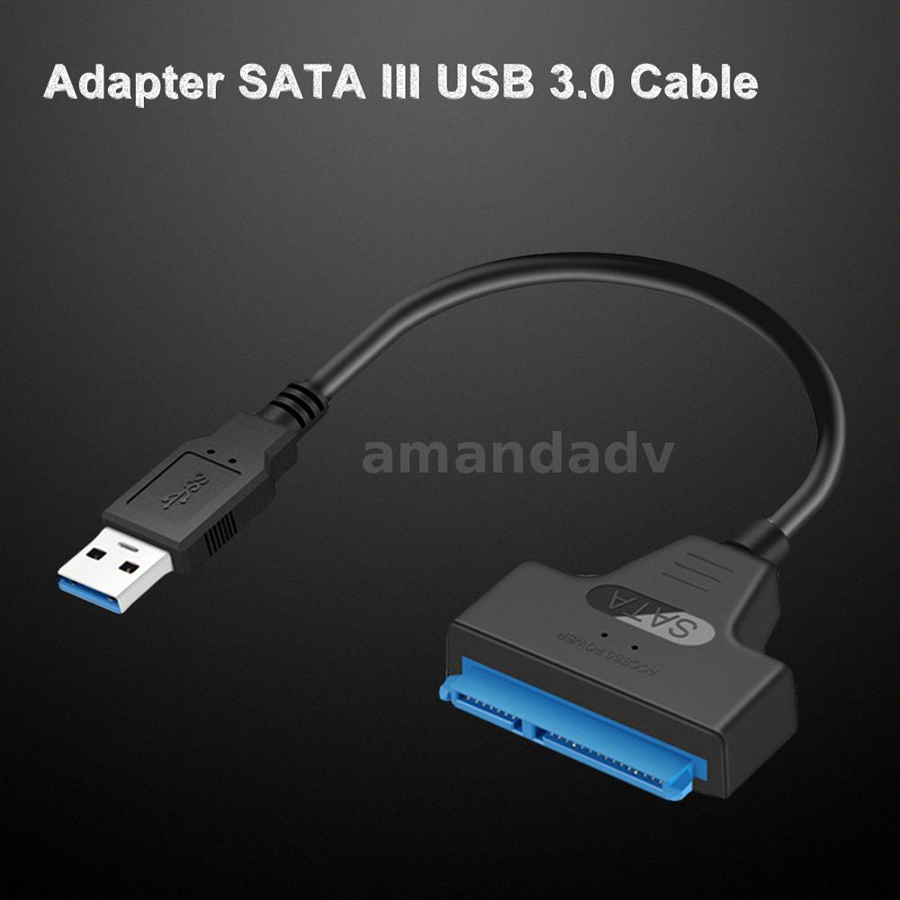 "USB 3.0 to 2.5/"" SATA III HDD SSD Hard Drive Data Adapter Cable Converter W25ce01"